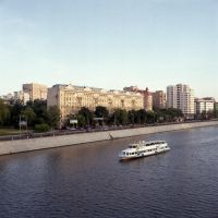 Moscow river by rain