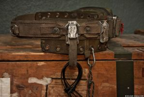 Post-Apocalyptic Army EDC Belt / Right Hip by NuclearSnailStudios