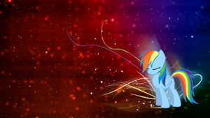 Rainbow Dash 'Colors' Wallpaper by BlueDragonHans