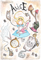 Alice in Wonderland Tribute | [Colored ver.] by MariaSketch