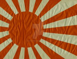 Japanese WWII Army and Navy Flag by hassified