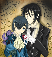 Sebastian and Ciel by Cafe-Chaos