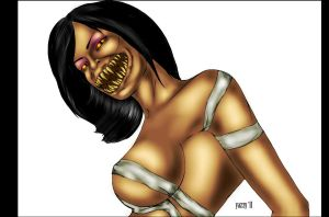 Mileena from the Flesh Pits by OneWingedAngel75