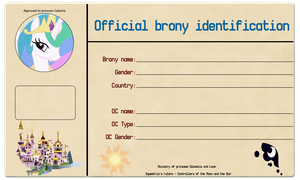 Official Brony Identification