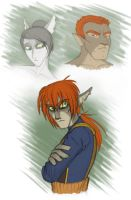 Donar and his parents by merrypaws