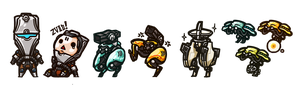 Warframe - Enemy Chibi Set2 by yuikami-da