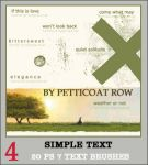 Simple Text PS7 Brushes by petticoatrow