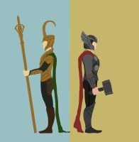 Thor - Brothers by teuf-eL