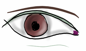 Simple Eye by WolfDeityProductions