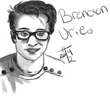 Brendon Urie Digital Painting by HannahRenae