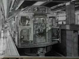 NY subway drawing by alainmi