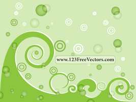 Green Swirl Background Vector by 123freevectors