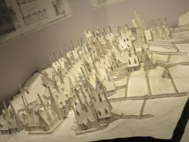 model plan of hogsmeade harry potter  studios by Sceptre63