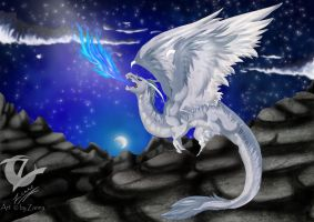 white dragon by ZannaArt