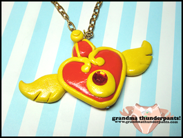 Sailor Moon Super S Necklace by GrandmaThunderpants