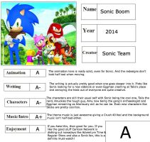 Sonic Boom report card by lightyearpig