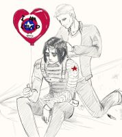 Love is all Bucky needs by MagnusRayne