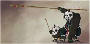 Pandarens by Caelys-illustrations