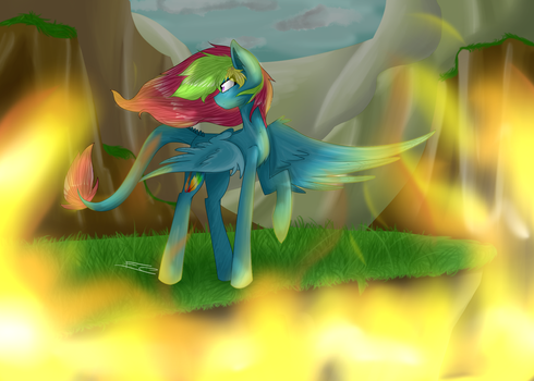 ~ don't let the fire get you ~ by FeatherShine1