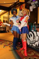 AFO 2016: Sailor Moon and Sailor Mercury by pgw-Chaos