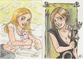 Buffy cards by AmberStoneArt