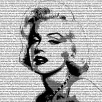 Marilyn Monroe Letter Pop Art by klan619