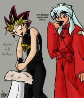 AT Yugi and Inuyasha by liliy