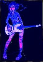 Electric Bass by wick-y