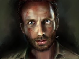 Rick Grimes - The Walking Dead by HaitiKage