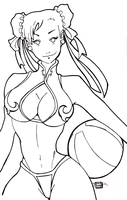Chun-Li Inks by captainphillips22