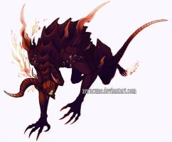 Final Fantasy 14- Ifrit coloured by Zerucune