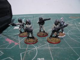 Imperial Army Troopers and TIE Pilot figures from by TheDoLittle