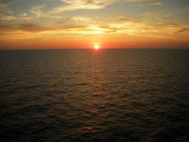 Sunset on the Ocean by Seto0946