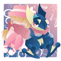With Greninja by Mockingbyrd