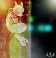 _.Mewtwo: Deep sleep._ by Metros2soul