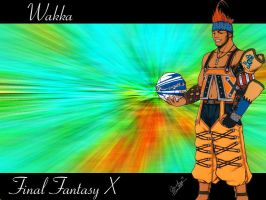 Wakka Wallpaper by Reddragonwings