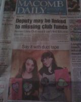 me and jewelle were in the newspaper by milovedeathnote