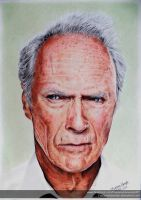 Clint Eastwood - Colored Pencils by FabianaAzevedo