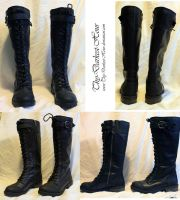 Knee-High Combat Boots by Thy-Darkest-Hour