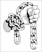 hand in chains by T3hSpoon