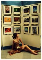 the girl and the photos. by poporina