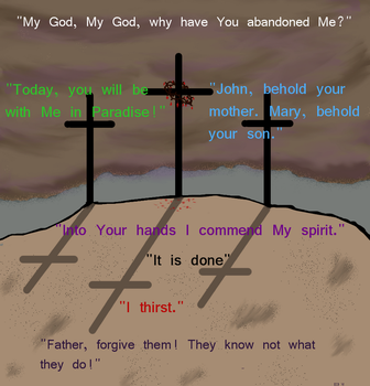 Seven words of Christ by loaves
