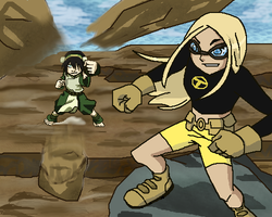 Terra vs Toph by scotty9359