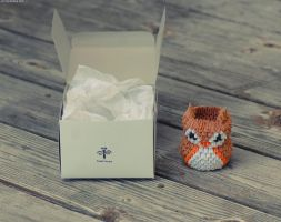 3D Origami Owl Pencil Holder by JeanFan