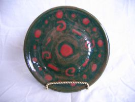 Red and Green Plate by tmgivler