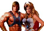 He-Man and She-Ra by planetbryan
