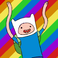 Finn rainbow animation by Art-is-a-BANGXD