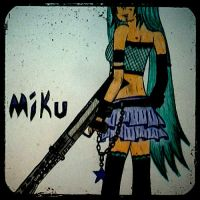 miku and a gun edit by Nellers500