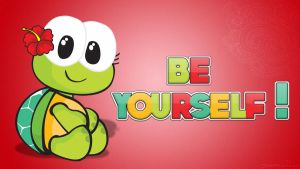Wallpaper Be yourself by LauraClover