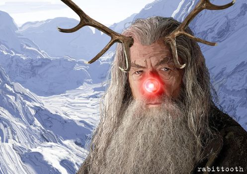 Gandalf the Red (Nosed Reindeer) by Rabittooth